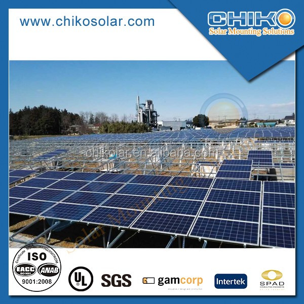 Solar pv projects ground installation products for commercial usage