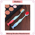 Top Quality Popular Design Soft Synthetic Hair Professional Cosmetics Oval Toothbrush Makeup Brush