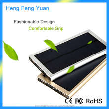 Hot Selling Super Slim Solar Power Bank 20000mAh Ultra Slim Power Bank Charger for All Mobile Phone