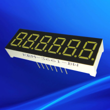 six number 0.36 inch 6 digits ultra red led 6 digit 7 segment display