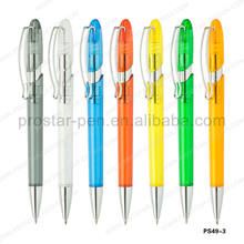 2015 new patent cheap wholesale good quality metal clip plastic ballpen