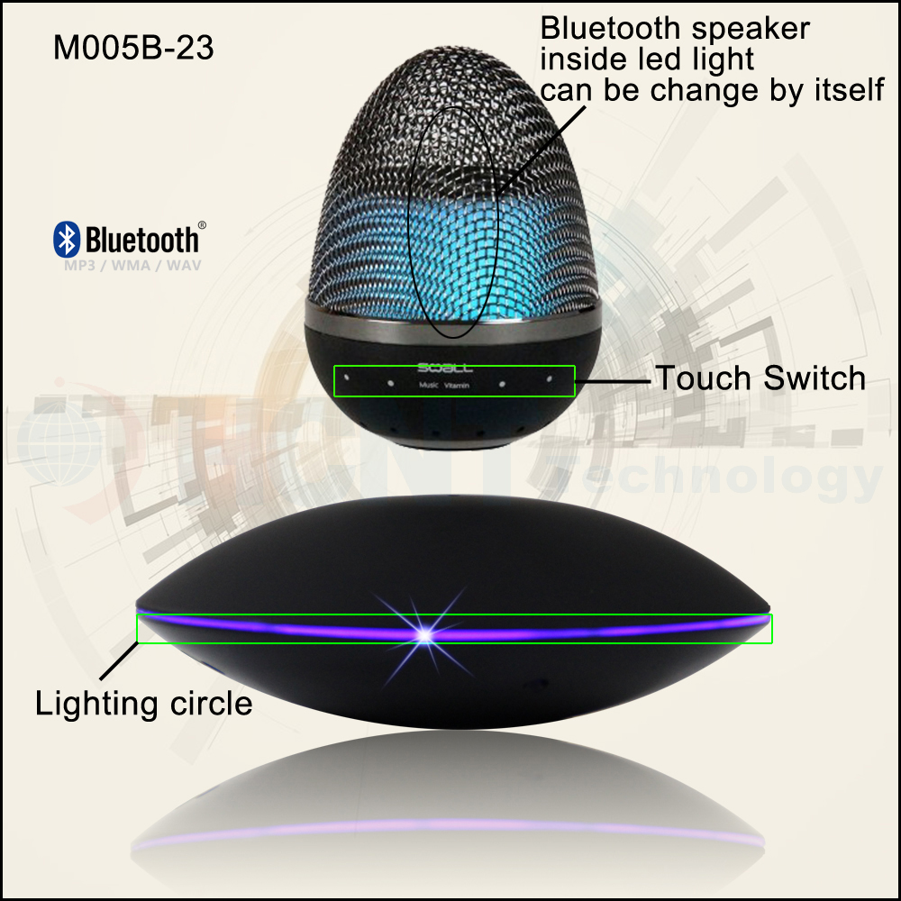 HCNT magnetic floating wireless Bluetooth Speaker with led light