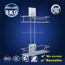 wholesales bathroom 2 tiers metal shower caddy & shampoo bottle holder
