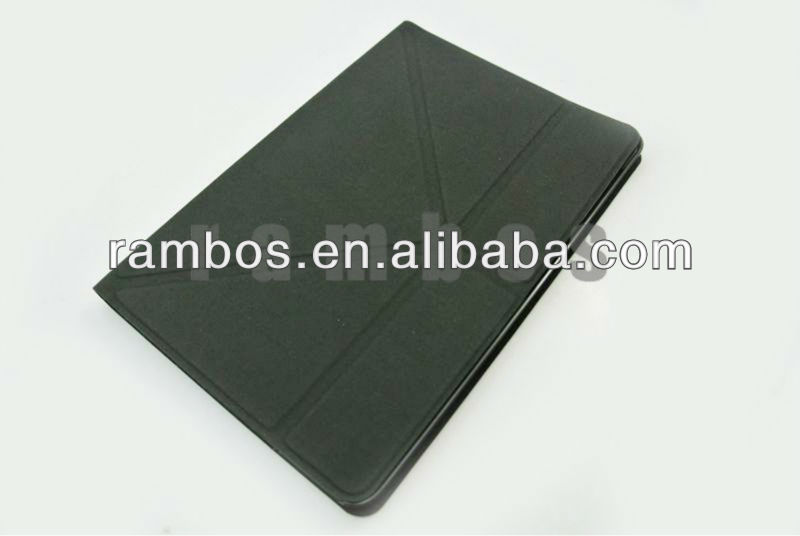 Smooth Leather Folding Book Type Stand Cover case for iPad mini