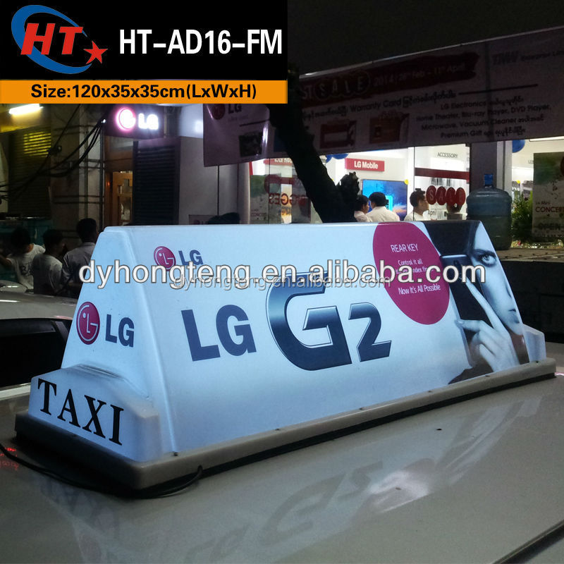 Outdoor advertising lighting taxi top led display