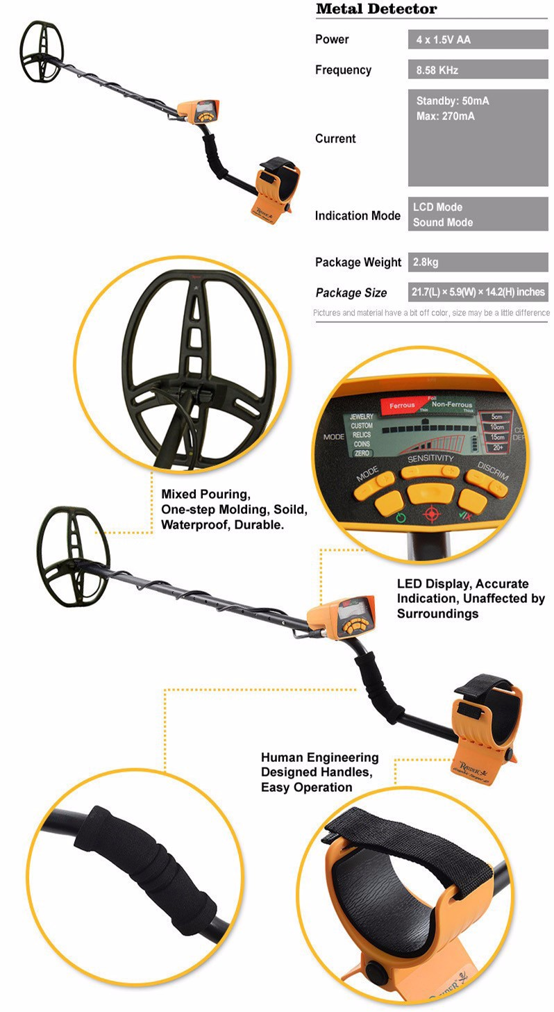 The hot selling MD-6350 Gold Metal Detector
