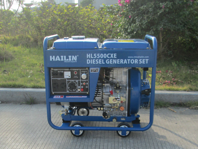 3KW electric portable silent air-cooled single phase diesel generator