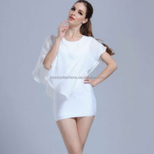 monroo China supplier high quality chiffon one piece women blouse