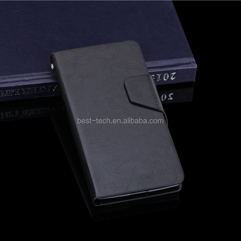 PU Crazy Horse Texture Leather Stand Case With Card Slots For Acer Liquid Z520