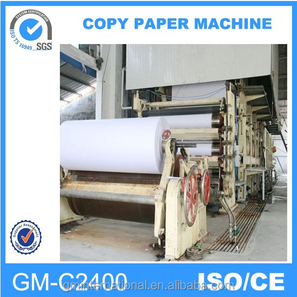 zhengzhou guangmao hot sale white print and news print paper machine,manufacture of copy paper production machine