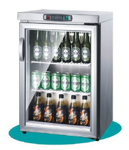 bar equipment china manufacturer stainless steel single door glass showcase upright mini display fridge of beer