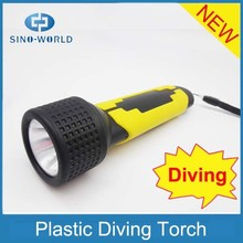 Super bright ABS handheld diving powerful battery operated waterproof portable work light
