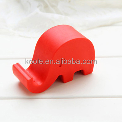 Durable handy silicone mobile phone stand holder