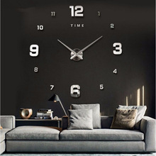 Wholesale Modern Large Wall DIY Clock 3D Mirror Surface Sticker Room Decor