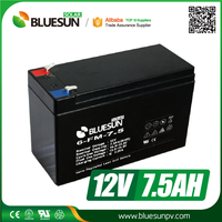 Rechargeable UPS Usage and Free Maintenance Type AGM 12v 7.0ah lead-acid battery