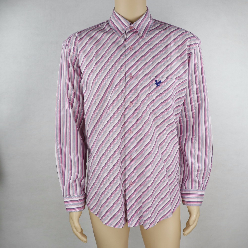 Casual style inclined stripes fashion men shirt