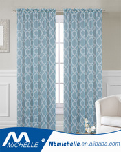 2017 different design printed sheer rods window curtain
