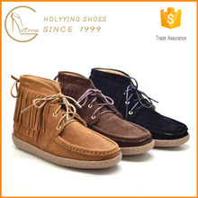 Holywin Moccasin Style Sheepskin Look Walking Boots For Ladies
