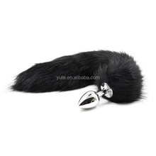 DHL free shipping Anal Butt With Arctic Fox Tail - Small Size butt plug tail Sex toy Adult product