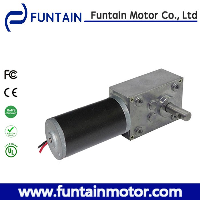 High Torque 24V DC Worm Geared Motor / 24V PMDC Motor with worm gearbox