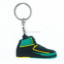 3d plastic mini running sports shoe keychain for premiums
