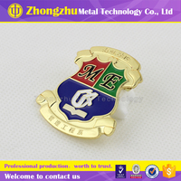 Zinc alloy Metal Soft enamel pin badge with top grade