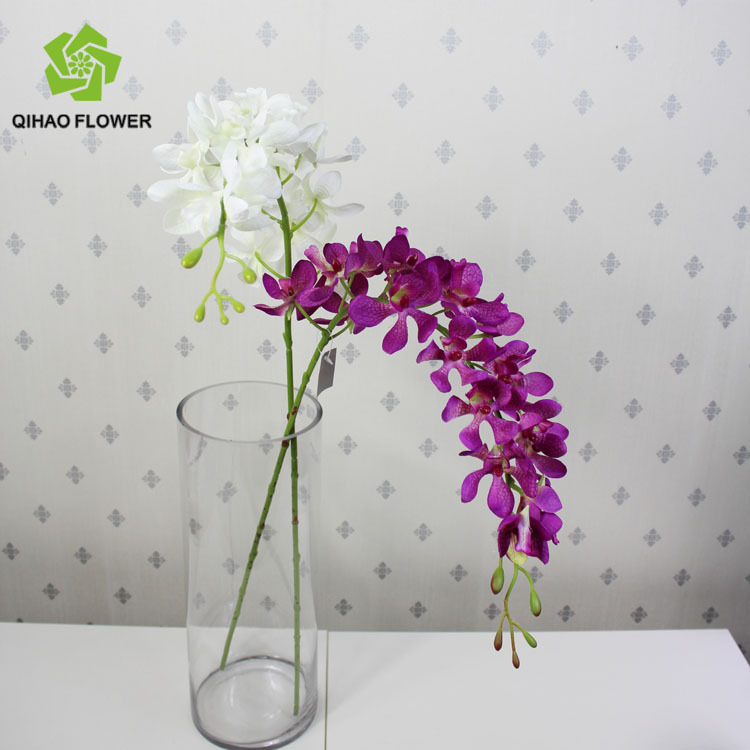 Single orchid artificial flower made in the usa silk flowers