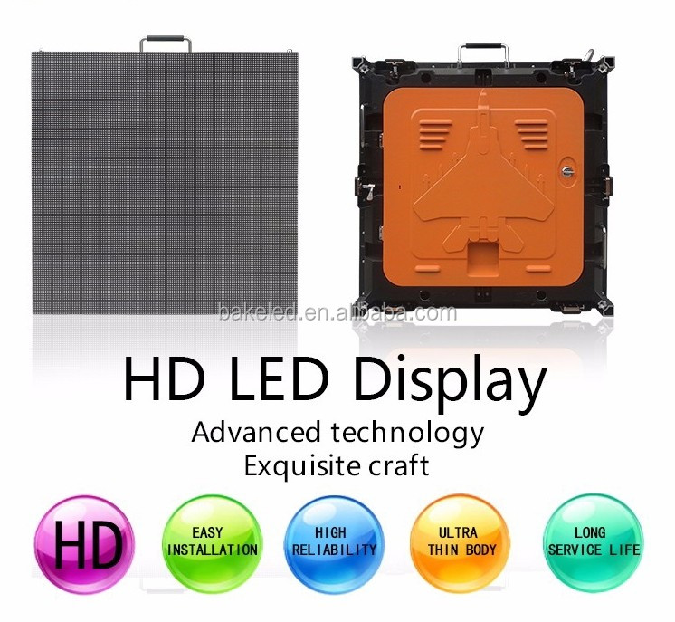 2017 hot sell easy install die casting alu indoor HD rental 512*512mm cabinet indoor p4 led screen