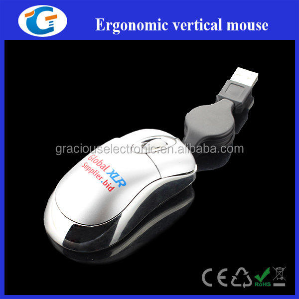 Best promotional gift mini optical retractable usb mouse