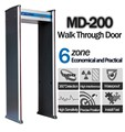 Spyonway security door metal detector walk through Gun Detector with 6 zones P200