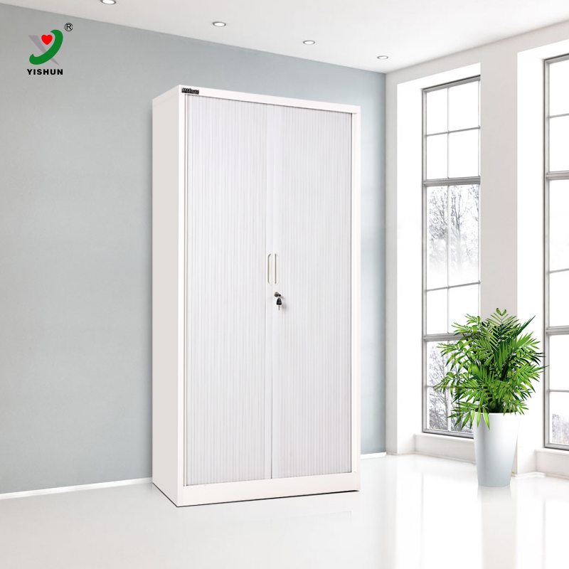 German brand plastic PVC tambour door assembled storage <strong>cabinet</strong> with 4 adjustable shelves
