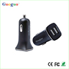 Guoguo mobile phone accessories dual port USB car charger/mobile phone car charger