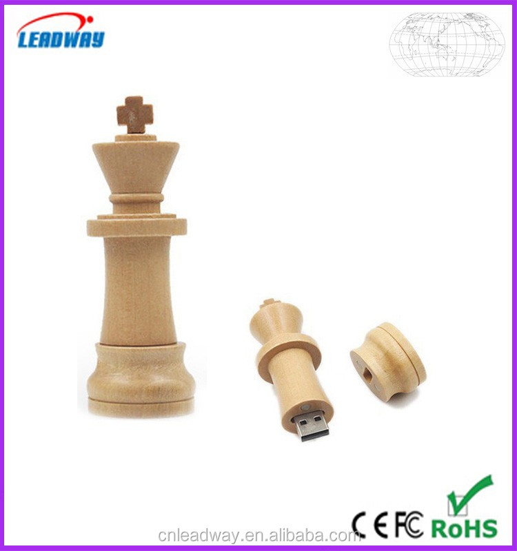 gadgets newest chess shaped promotional usb flash drive,cool engraving logo wood usb flash drive
