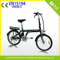 "green power ebike 36v 20"" folding elektro bike with brushless motor"