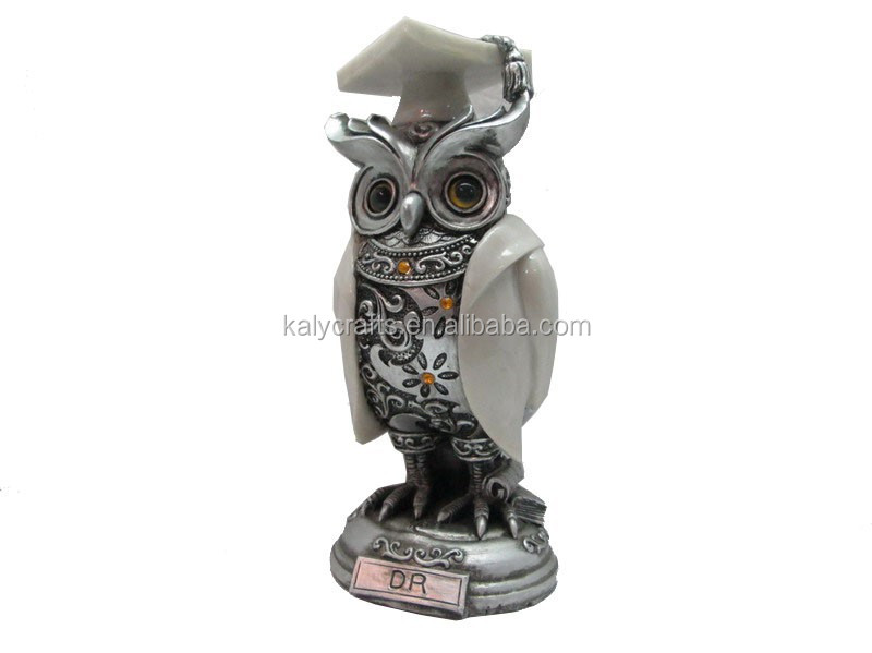 Nice design animal decoration resin owl in art <strong>craft</strong>