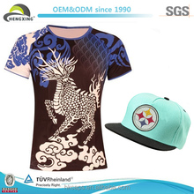 china wholesale brand t shirt and caps/customized t shirts and caps