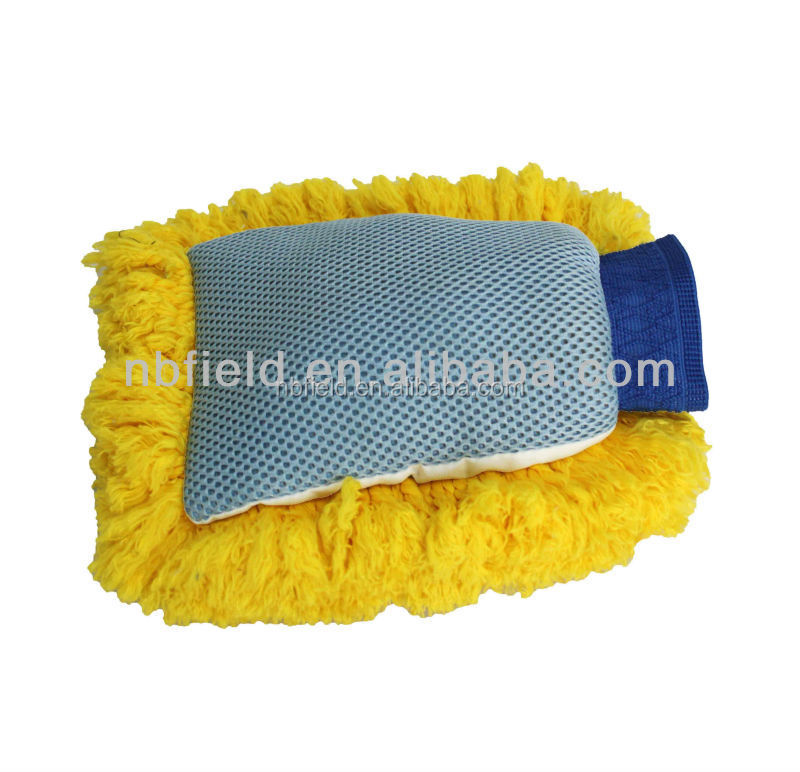 Microfiber car wash gloves chenille cleaning mitt FM1013