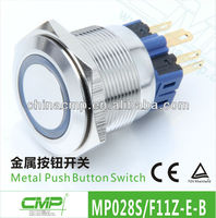 CE Approved 28mm Metal Electrical LED Switchs