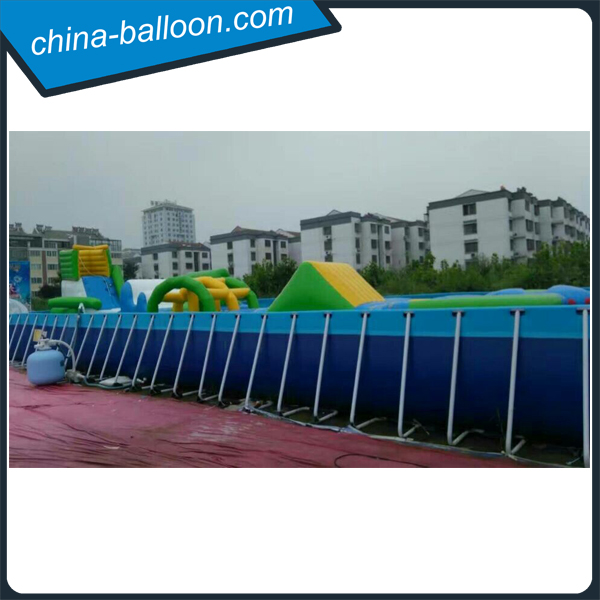 family holiday sea theme Inflatable water park with pool and slide