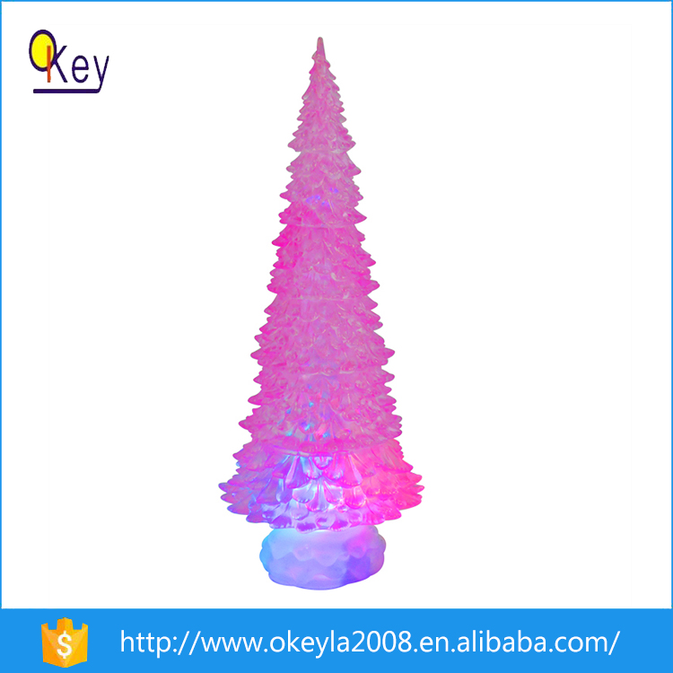 Acrylic holiday living christmas tree decoration LED lights