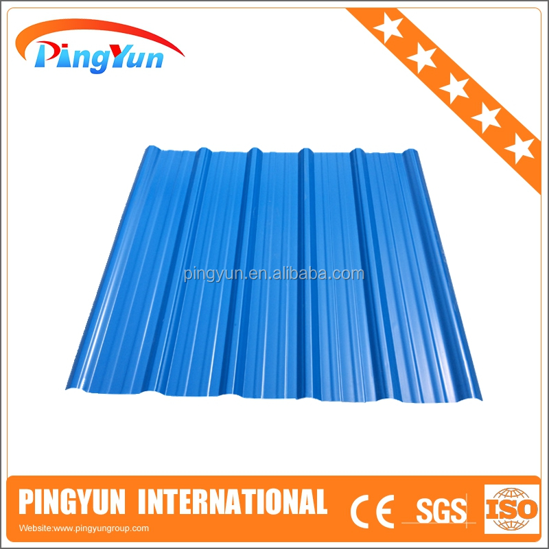 pvc corrugated sheet/light weight/plastic roofing sheet