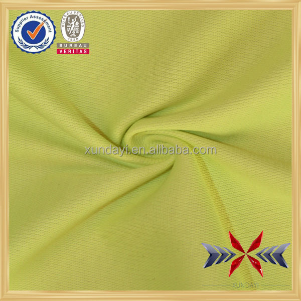 Polyester and cotton soft knit birds eye mesh fabric factory whole sale