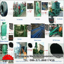 high output scrap rubber tires recycling machine
