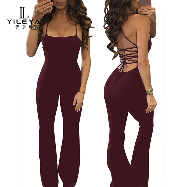 Women rompers and jumpsuits 2017,party wear jumpsuits women 2017 long pant polyester