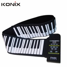 88 Keys Electronical Flexible Portable Silicone Folding 88 Keys Roll Up Piano for Children Education