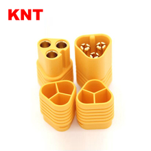 KNT RC Accessories 3 poles gold 3.5mm bullet MT60 connector for Motor