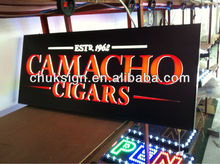 CNC cutting RED best price hot sale CAMACHO CIGARS store made in chinaLED signage