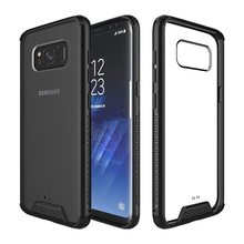 Clear Acrylic Hard Back Cover Hybrid TPU Bumper Case For Samsung Galaxy S8