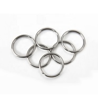 Wholesale Bulk Iron Round Shaped 35mm Metal Keychains Split Key Rings