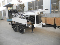 hydraulic DTH and rotary trailer- mounted water well drilling equipment SLY400-T